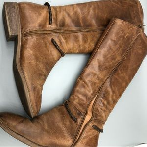 AS IS Matisse lariat brown leather knee high boots